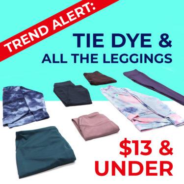 tie dye and leggings